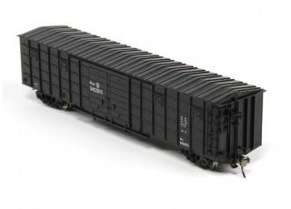P64K Box Car (Ho Scale - 4 Pack) (Black Set 3) rear