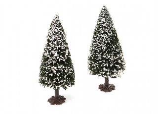 HobbyKing™ 120mm Scenic Model Fir Trees with Snow (2 pcs)