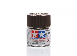 Tamiya XF-10 Flat Brown Mini Acrylic Paint (10ml)