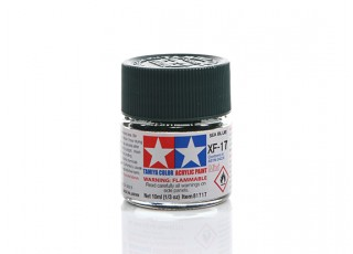 Tamiya XF-17 Flat Sea Blue Mini Acrylic Paint (10ml)