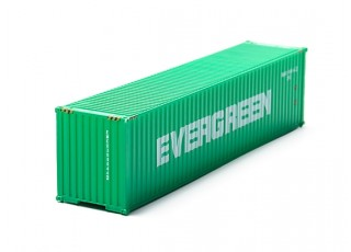 HO Scale 40ft Shipping Container (EVERGREEN) front view