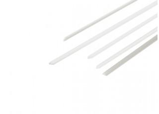 ABS Half Round Rod 1.0mm x 500mm White (Qty 5)