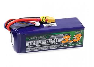 Turnigy nano-tech 3300mAh 6S 45~90C Lipo Pack w/XT-60