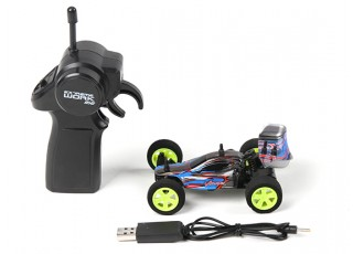 Velocis Viper 1/32 2WD Buggy (RTR) (Blue) - contents