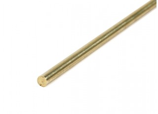 K&S Precision Metals Brass Rod 3.5mm x 1000mm (Qty 1)