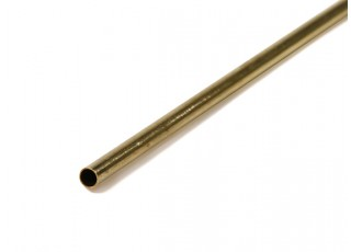 K&S Precision Metals Brass Round Thin Wall Tube 3mm OD x 0.225mm x 1000mm (Qty 1)