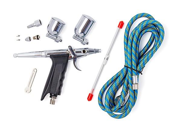Twin-Action Fine Needle Pistol Air Brush Set