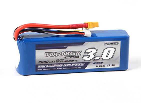 Turnigy 3000mAh 5S 20C Lipo Pack With XT60