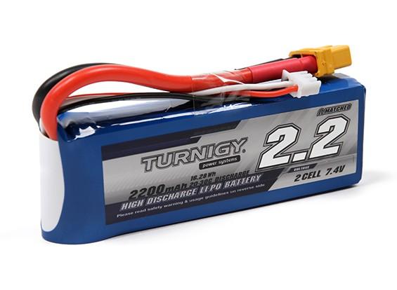 Turnigy 2200mAh 2S 20C Lipo Pack w/XT60U Connector