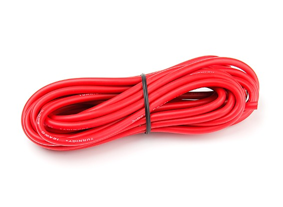 Turnigy High Quality 12AWG Silicone Wire 4m (Red)