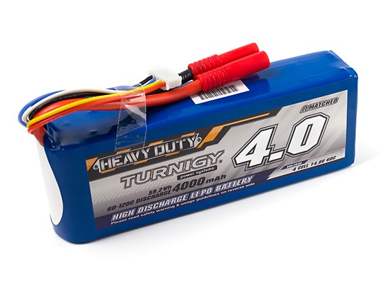 Turnigy Heavy Duty 4000mAh 4S 60C Lipo Pack