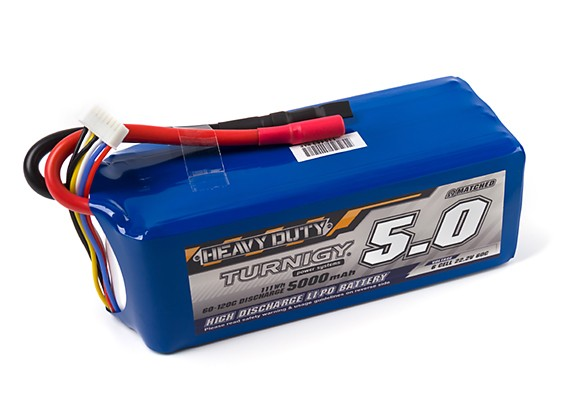 Turnigy Heavy Duty 5000mAh 6S 60C Lipo Pack