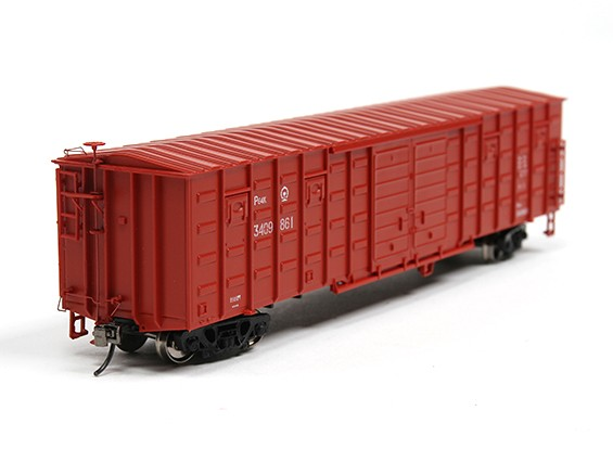 P64K Box Car (Ho Scale - 4 Pack) Brown Set 2 Front