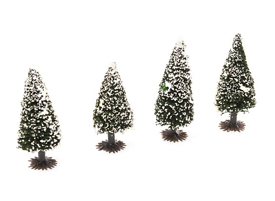 HobbyKing™ 70mm Scenic Model Fir Trees with Snow (4 pcs)