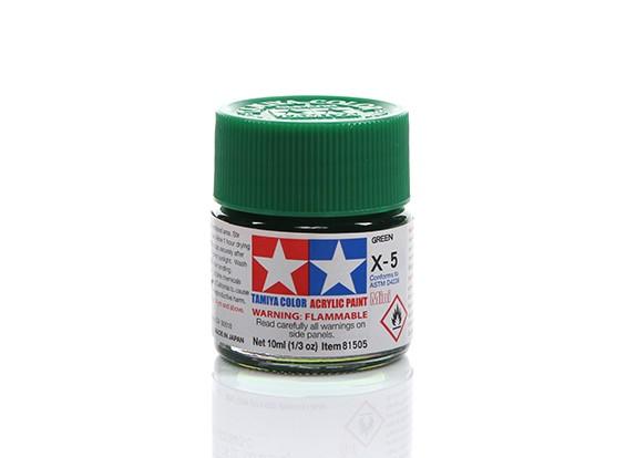 Tamiya X-5 Gloss Green Mini Acrylic Paint (10ml)