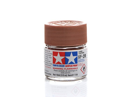 Tamiya XF-28 Flat Dark Copper Mini Acrylic Paint (10ml)
