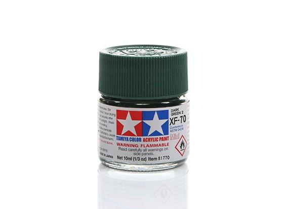 Tamiya XF-70 Flat Dark Green Mini Acrylic Paint (10ml)