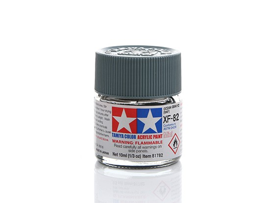Tamiya XF-82 Flat RAF Ocean Grey 2 Mini Acrylic Paint (10ml)