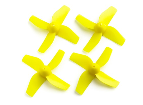 35mm 4-Blade Propeller (2CCW, 2CW) (Yellow)