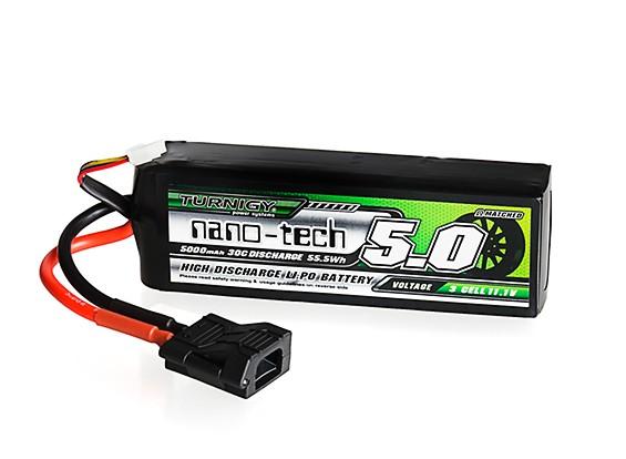 Turnigy nano-tech 5000mAh 3S 30C LiPo Pack w/ Flat Connector