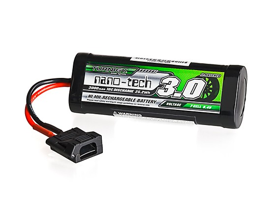 Turnigy nano-tech 3000mah 8.4V 7P 10C NiMH Battery Hump Pack w/Flat Connector