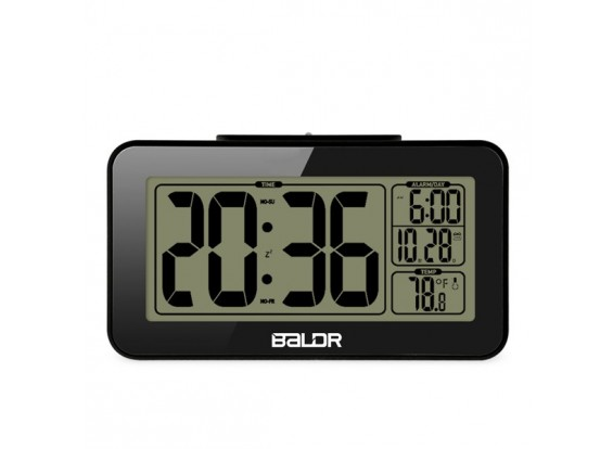 BALDR B0326STB Smart Alarm Clock With Snooze Temperature Back-light Display
