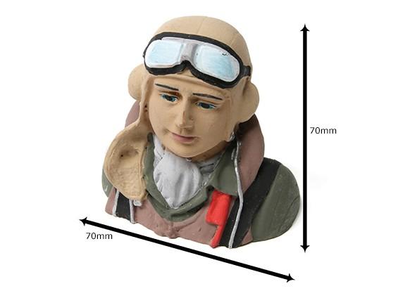 WWII Allied Pilot (H68 x W72 x D43mm)