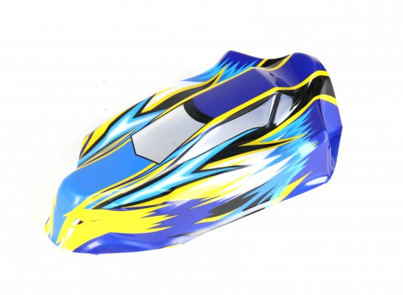 Clear Body (PVC) w/Masking Tape - BSR Racing BZ-444 RTR 1/10 4WD Racing Buggy