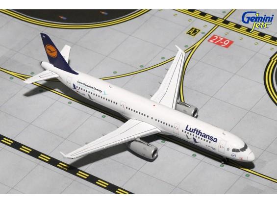Gemini Jets Lufthansa Airbus A321-200 Crane Protection Germany D-AIRR 1:400 Diecast Model GJDLH1619