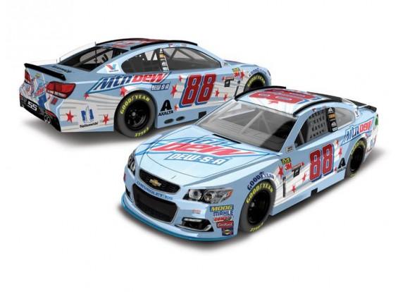 NASCAR Diecast Lionel Racing Dale Earnhardt Jr Mountain Dew-SA 2017 Chevy SS 1:64 ARC