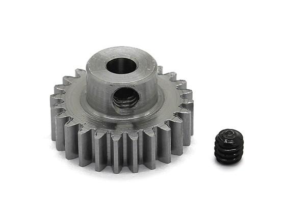 Robinson Racing Steel Pinion Gear 48 Pitch Metric (.6 Module) 24T