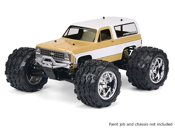 Pro-Line 1/10 Scale 1980 Chevy Blazer Clear Body For Monster Trucks / Crawlers