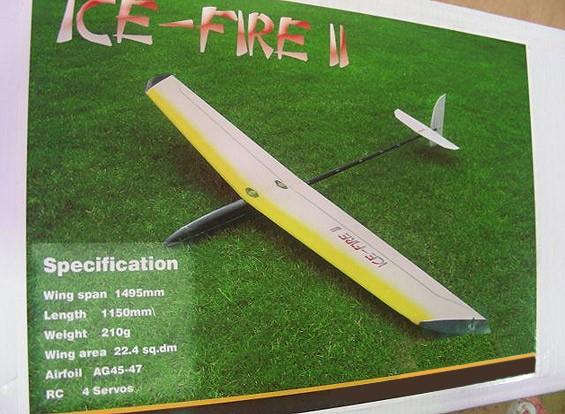 SCRATCH/DENT IceFire-II ARF DLG CF Comp Glider 1495mm (AUS Warehouse)
