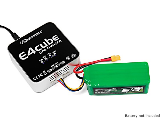 Quanum E4 Cube 50W Balance Charger for LiPo 100~240V AC (UK Plug)