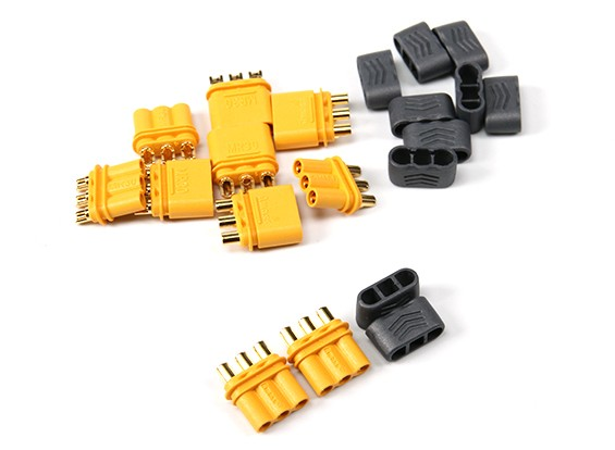 R30 - 2.0mm 3 Pin Motor to ESC Connector (30A) Male/Female (5 sets/bag)