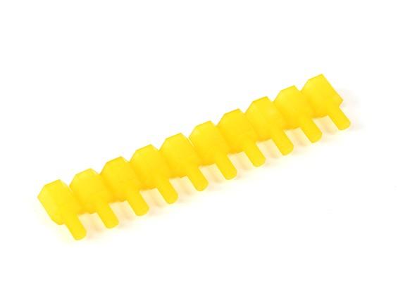 Nylon Spacer 6mm M3 M/F Yellow (10pcs)