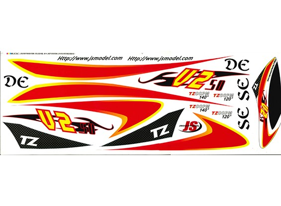 TZ-V2 .50 Size Decal