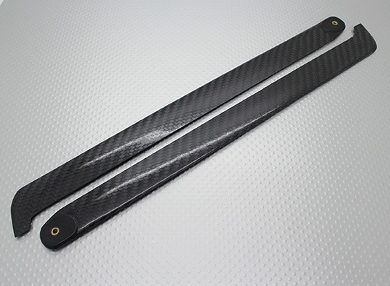 EP 450 Class 320mm Carbon Fiber Main Blades for 4-Blade Main Rotor (2pc)