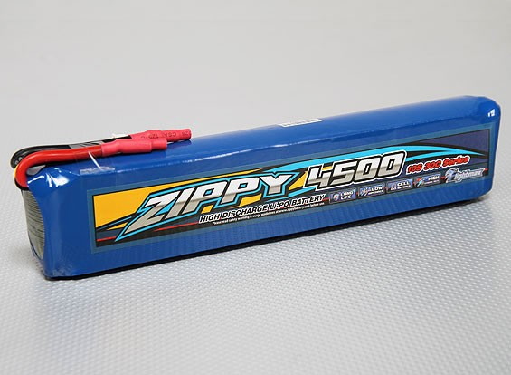ZIPPY Flightmax 4500mAh 10S1P 30C Long Lipo Pack