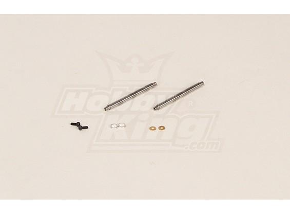 GT450PRO Feathering Shaft (51x4mm) 2pcs