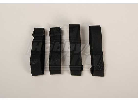 Battery Strap 400X20mm (Black) (4pcs/bag)