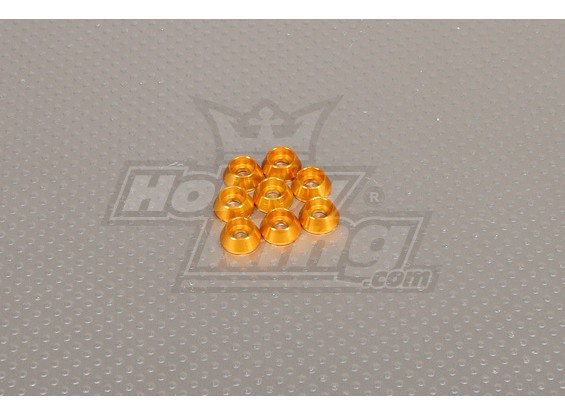 CNC Cap Bolt Washer M4 (4.5mm) Gold