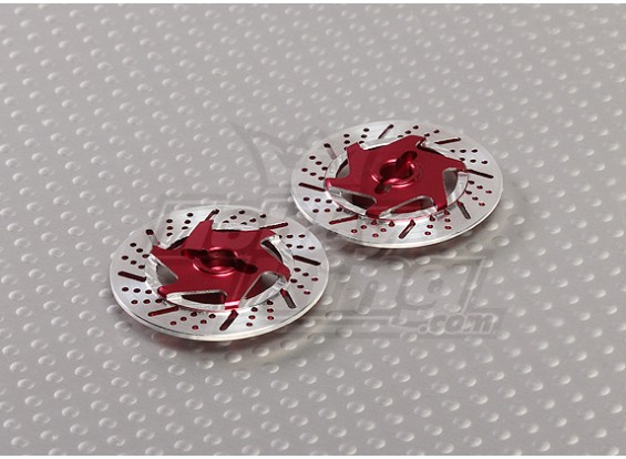 1/10 Brake Disc Wheel Adapters 12mm Hex (Red - 2pc)