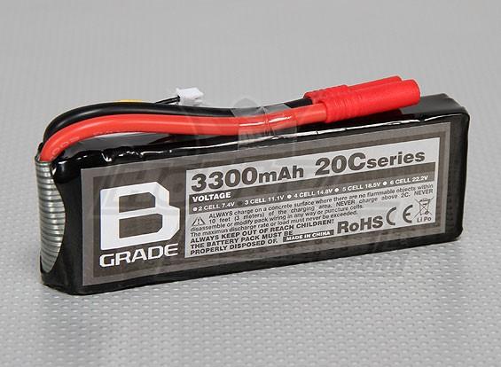 B-Grade 3300mAh 3S 20C Lipoly Battery