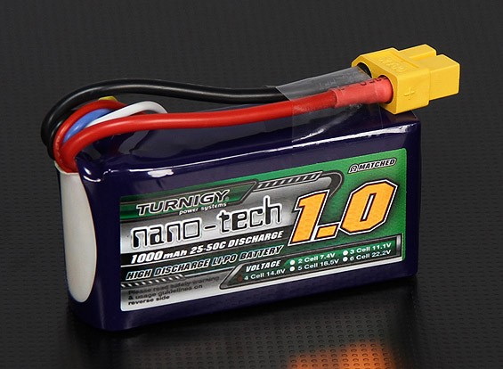 Turnigy nano-tech 1000mah 4S 25~50C Lipo Pack