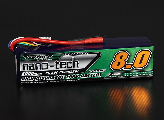 Turnigy nano-tech 8000mAh 6S 25~50C Lipo Pack