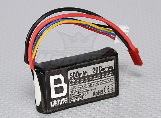 B-Grade 500mAh 3S 20C Lipoly Battery