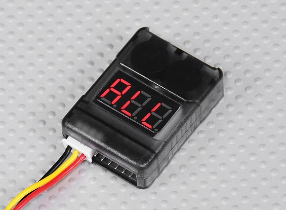HobbyKing™ Cell Checker with Low Voltage Alarm (2S-8S)