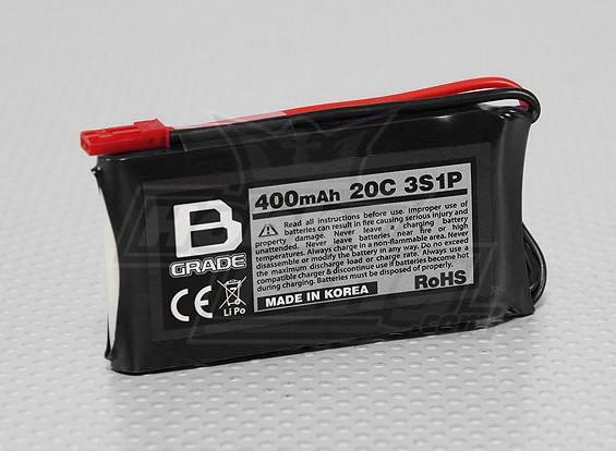 B-Grade 400mAh 3S 20C Lipoly Battery