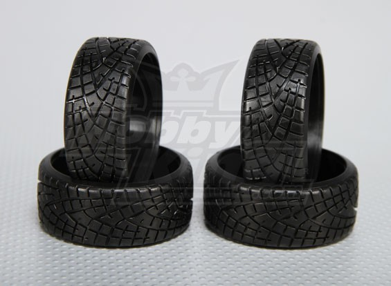 1:10 Scale Hard Plastic Drift Tire w/tread RC Car 26mm (4pcs/set)